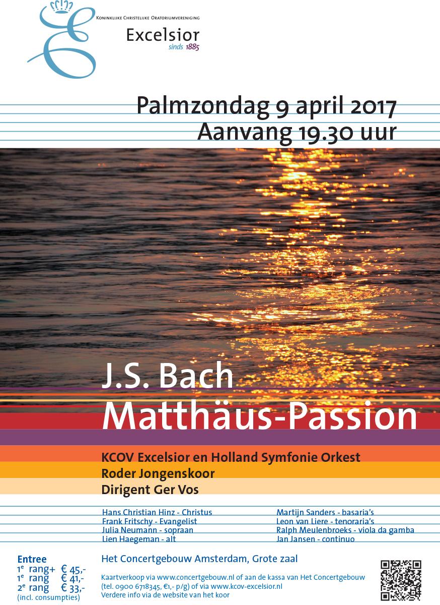 Flyer Matthäus Passion 2017